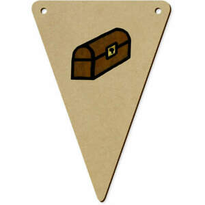 5 x 140mm 'Treasure Chest' Wooden Bunting Flags (BN00062203)