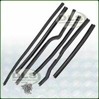 LH Front Door Seal Kit Land Rover Series 2/2a/3 6 pieces and Rivets (DA1495)
