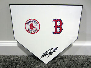 NOMAR GARCIAPARRA Boston Red Sox SIGNED Autographed Home Plate Base Plaque w/COA