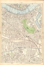 1906 LARGE MAP-BACON 9 INCH - ROTHERHITHE, BERMONDSEY, OLD KENT ROAD