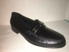NWOB The FLORSHEIM Shoe Black Leather Loafers size 9 B