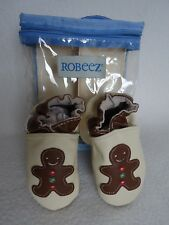 Robeez Gingerbread Baby Boy Girl 0 6 Months Shoes Christmas Leather Slip On New