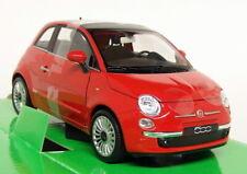 NEX 1/24 Scale - 2007 Fiat 500 Red - Diecast model car