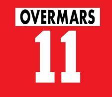 Overmars #11 Ajax 1995-1996 Home Football Nameset for shirt