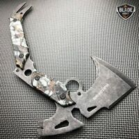 "13"" SURVIVAL TOMAHAWK TACTICAL THROWING AXE BATTLE STONEWASH Hatchet BLADE Knife"