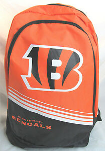 NFL Cincinnati Bengals 2015 Stripe Core Logo Backpack by Forever Collectible