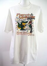 French Quarter White Tee Shirt LARGE Cajun Rocker New Orleans Jazz Bourbon St
