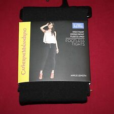 d548546b63c67c Catherine Malandrino L/XL high waist zippered fleece lined footless tights  black