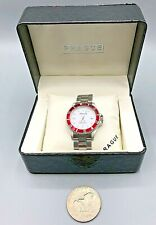 Prague Automatic 26856RDWH Professional Divers Watch Date WR NEW BATTERY w/ Box