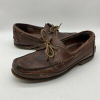 Orvis By Gokey Casual Leather Boat Shoes Size 10.5 EE Made in USA Vibram READ !