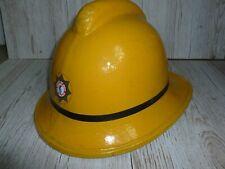 More details for obsolete yellow lfm rank firemans helmet
