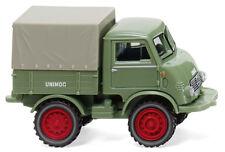WIKING Modell 1:87 / H0 Unimog U 401 mit Plane - hellgrün #036802 NEU/OVP