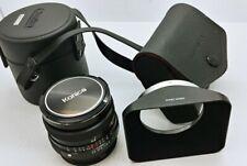 Konica HEXANON AR 28mm F/3.5 Lens LIKE NEW w/original case & metal hood