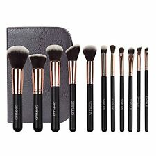 Sixplus 11-Piece Makeup Brush Set, Royal Golden,Handmake Synthetic Hair,Wooden