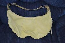 WORTHINGTON soft leather bag purse tote--light green
