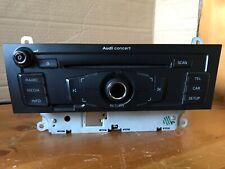 AUDI CONCERT OEM CD MP3 RADIO HEAD UNIT CD PLAYER A4 A5 Q5 8T2035186C TESTED