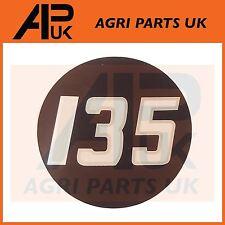 Massey Ferguson 135 Tractor lado Bonnet Insignia Medallón Emblema Decal Sticker
