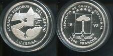 ÄQUATORIAL GUINEA 1993 - 7000 Francos in Silber, PP - KAPPELENBRÜCKE LUZERN