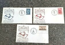 SET OF 3 -  AMER. FIRST DAY COVER SOC. CONV. COVERS - 1956 - SIGNED BY CHAIRMAN