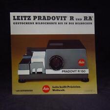 Leitz Leica Pradovit R RA booklet - Heft - Zeitschrift - Zeitung - Magazin