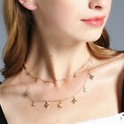 Fashion Choker Necklace Star Moon Pendant Chain Gold Women Summer Jewelry