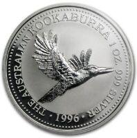 1996 AUSTRALIAN KOOKABURRA Silver 1oz Coin in Slab