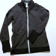Ivivva Girls By Lululemon  Full Zip Up Jacket Activewear Size 12 Gray Black