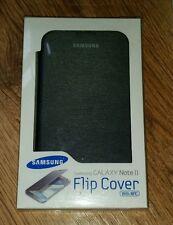 Original Samsung Galaxy Note 2 Flip Libro Cubierta Estuche Negro CFE -1 J 9 FSEGSTD