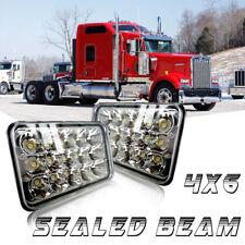 "4x6"" inch For Kenworth Peterbilt Ford LED Rectangular Sealed Beam Headlight 2pcs"