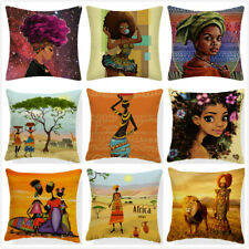 Abstract Painting Africa Life Pillow Case African Woman Home Decor Cushion Cover