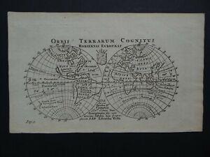 1761 WELLS Atlas World map Orbis Terrarum Hodiernis Europais  California Island