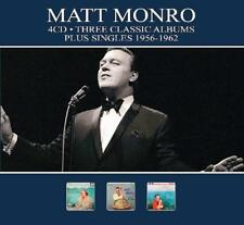 MATT MONRO - 3 CLASSIC ALBUMS PLUS SINGLES 1956-1962  (NEW SEALED 4CD)