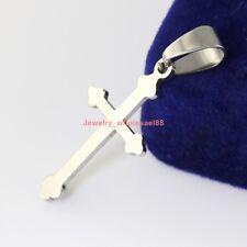 Lot 5pcs FashioN Cross Pendant Women Men's jewelry Stainless Steel 15*29mm