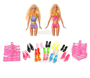 8 Pieces Barbie Doll Bikini's Swimming Costume Swimwear Clothes Bundle Lot B2