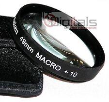 49mm Macro +10 Close-Up Glass  Lens Filter For DSLR SLR  49 mm Lenses