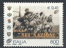2000 ITALIA RUGBY SEI NAZIONI MNH **