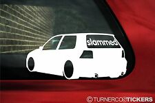 Slammed (or custom text) LOW vw Golf Mk4 R32 lowered Dub Sticker, Decal