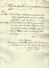 Ricevuta Autografa Gaetano Baccani Architetto Ingegnere Firenze Massoneria 1832