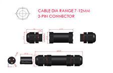 Rango de diámetro exterior impermeable IP68 Cable Conector 7-12mm - pin De 3 núcleos 20A 240 ~ 380V