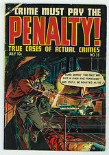 Crime Must Pay The Penalty #33 3.0 Drug Story Ow Pages Golden Age