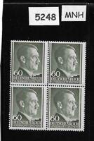 MNH Adolph Hitler stamp block 60GR / 1941 WWII / Third Reich / Occupied Poland