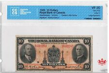 1935 The Royal Bank Of Canada 10$ Large Signature 1632283 - CCCS VF20 -