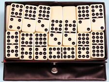 Plastic Double Nine Dominoes - Black Spots - Spinners - Ref: 00122