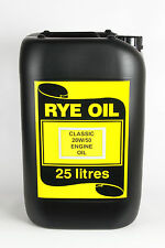 20w/50 Classic 20w50 Vintage Engine Oil 25 Litre 25L API SF/CC/CD, MIL 2104B