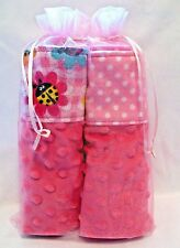 Baby Girl Burp Clo 00006000 th Gift Set Deluxe Minky And Snuggle Flannel Sandwich 2 Pack