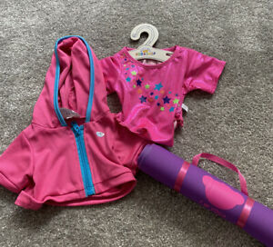 Build a Bear Sport & Gym Bundle - Includes Leotard, Hoody & Yoga Mat