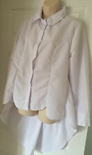 WHITE LOOSE TOP BLOUSE SIZE XL  12-14 BRAND NEW