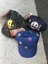 Super Stylish Unisex Kids Baseball Cap, Emoji Hats Set Of 3 Size M/L