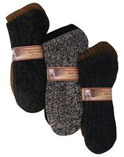 #3366 100% Alpaca Socks Men Heavy Thick Warm Winter Outdoor 2 Pack Natural Tone