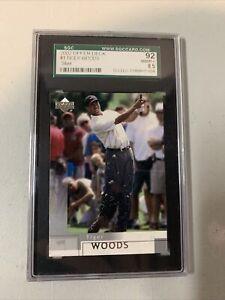 Tiger Woods 2002 Upper Deck #1 SGC 92